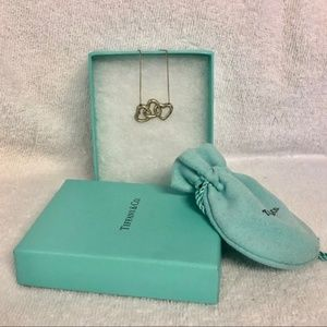 TIFFANY & CO triple heart necklace 18 inches